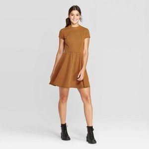 Xhilaration Mock Turtleneck Knit Mini Dress